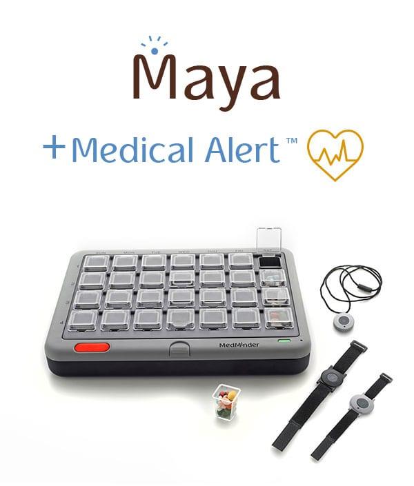 MedMinder Maya Medical Alert - pill box with alarm